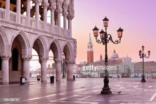 Lido and St Marks Square Venice Italy in the morning