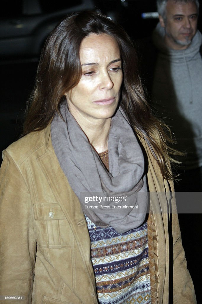 Lidya Bosch attends the funeral chapel for actor Fernando Guillen at Tres Cantos Chapel on January 17, 2013 in Madrid, Spain.