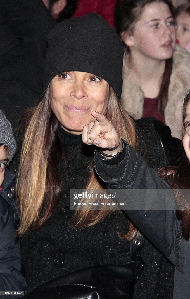 Lidya Bosch attends the procession of the Wise Men on January 5, 2013 in Madrid, Spain.