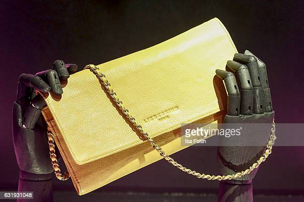 A liebeskind clutch designed by Wana Limar at the Liebeskind Berlin housewarming party during the MercedesBenz Fashion Week Berlin A/W 2017 at on...