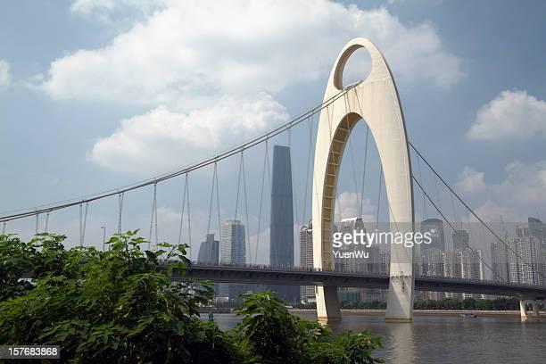 Liede Bridge and Guangzhou Skyline