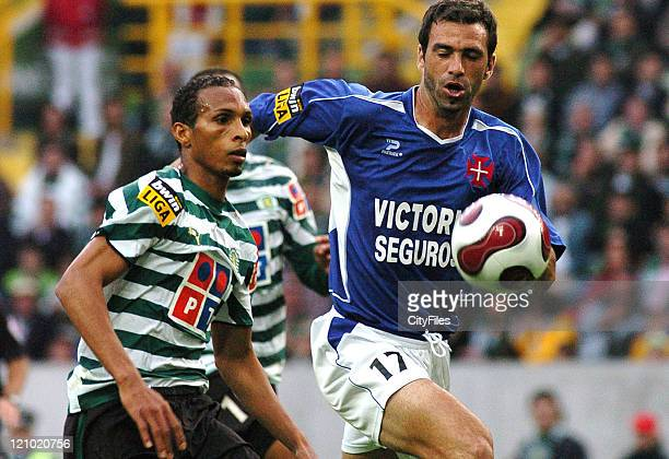 Liedson and Gaspar during a Portuguese League match between Sporting and Belenenses in Lisbon Portugal on May 20 2007