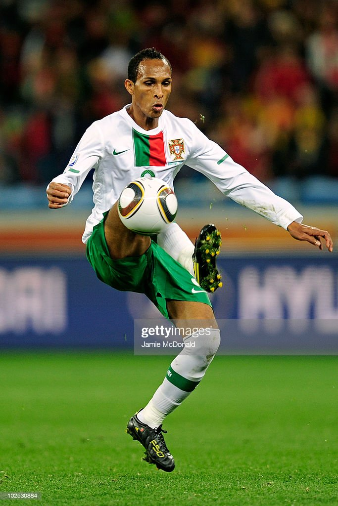 <a gi-track='captionPersonalityLinkClicked' href=/galleries/search?phrase=Liedson&family=editorial&specificpeople=674137 ng-click='$event.stopPropagation()'>Liedson</a> of Portugal controls the ball during the 2010 FIFA World Cup South Africa Round of Sixteen match between Spain and Portugal at Green Point Stadium on June 29, 2010 in Cape Town, South Africa.