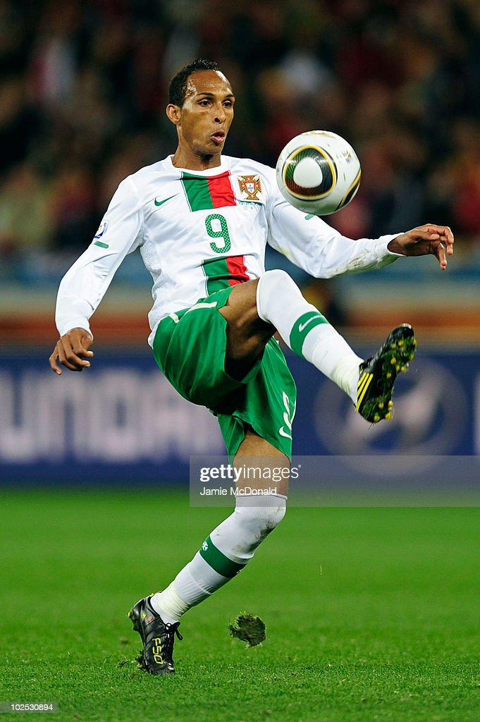 <a gi-track='captionPersonalityLinkClicked' href=/galleries/search?phrase=Liedson&family=editorial&specificpeople=674137 ng-click='$event.stopPropagation()'>Liedson</a> of Portugal in action during the 2010 FIFA World Cup South Africa Round of Sixteen match between Spain and Portugal at Green Point Stadium on June 29, 2010 in Cape Town, South Africa.