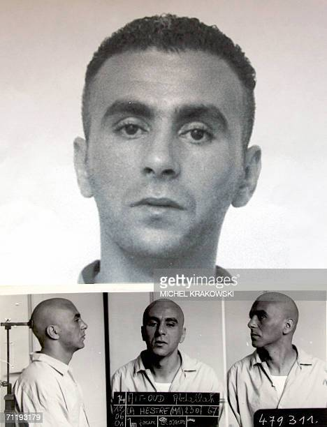 This reproduction of undated file pictures made available by Police 13 June 2006 shows Abdallah AitOud who is being searched as a privileged witness...