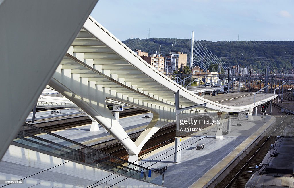 Liege-Guillemins railway station : Stock Photo