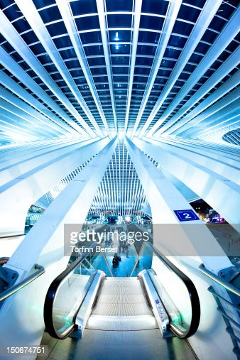 Liege-Guillemins train station : Stock Photo