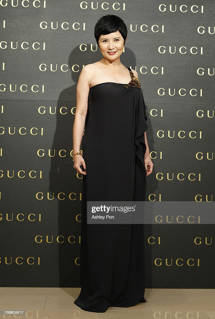 Lieh Lee poses for a photograph at the Gucci Flagship store opening at Taipei101 on November 22, 2012 in Taipei, Taiwan.