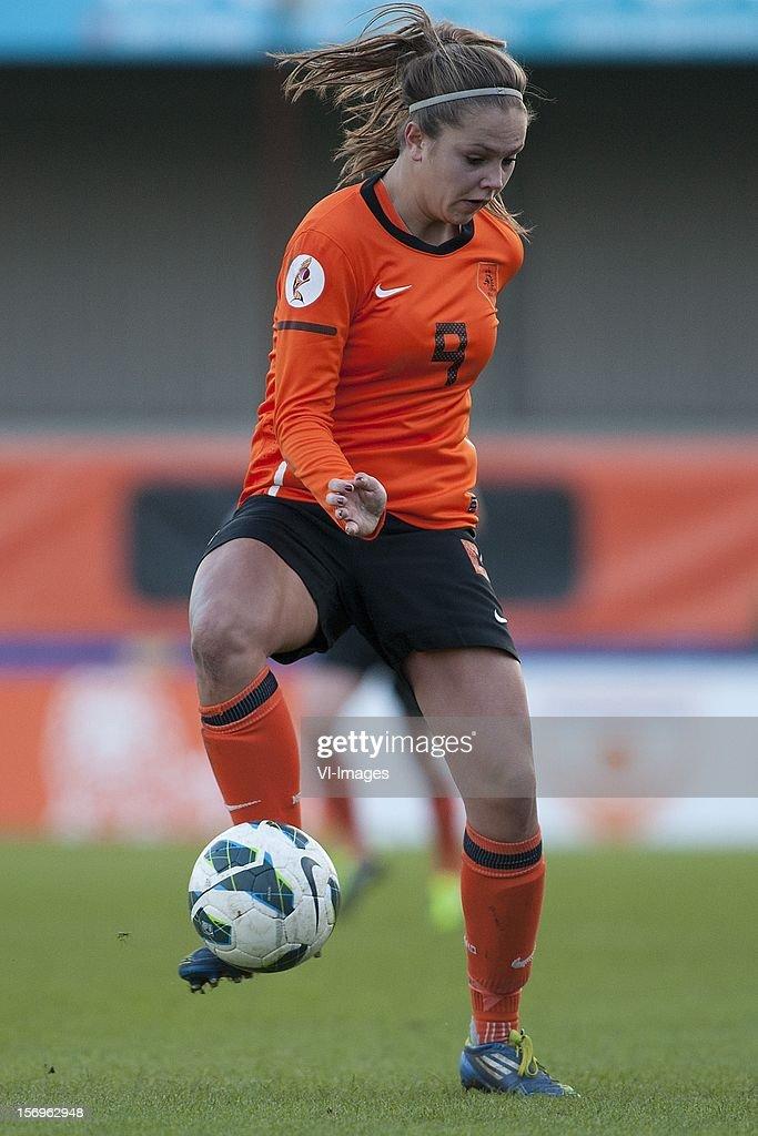 Lieke Martens of Holland during the Women's international friendly match between Netherlands and Wales, at Tata steel stadium on November 25, 2012 in Velzen-Zuid, Netherlands.