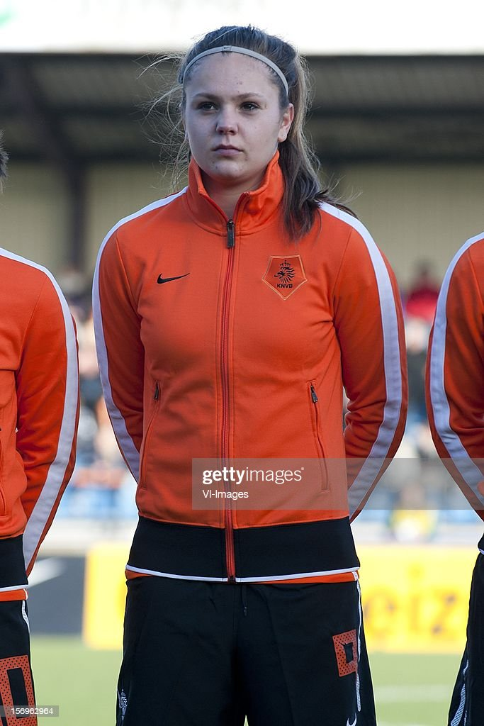 Lieke Martens of Holland during the Women's international friendly match between Netherlands and Wales, at Tata steel stadium on November 25, 2012 in Velzen-Zuid, Netherlands.