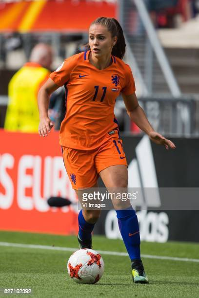 Lieke Martens of Holland Women during the UEFA WEURO 2017 final match between The Netherlands and Denmark at the Grolsch Veste on August 06 2017 in...
