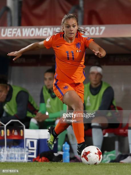 Lieke Martens of Holland Women during the UEFA WEURO 2017 Group A group stage match between Belgium and The Netherlands at Koning Willem II stadium...