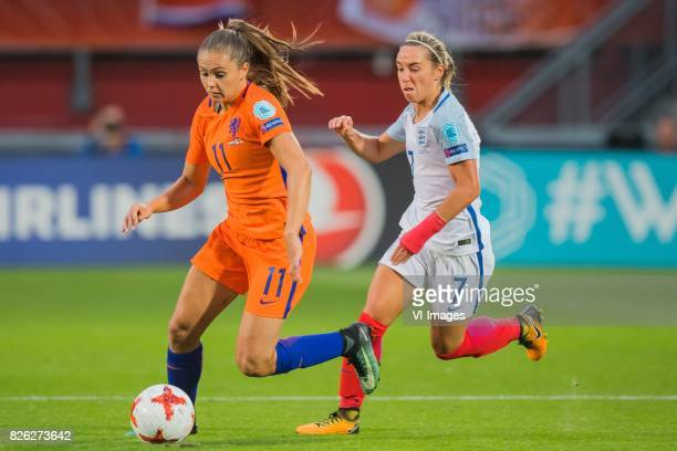 Lieke Martens of Holland Women Jordan Nobbs of England women during the semifinal UEFA WEURO 2017 match between The Netherlands and England at the...