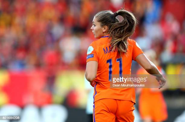 Lieke Martens of Netherlands in action during the Group A match between Belgium and Netherlands during the UEFA Women's Euro 2017 at Koning Willem II...