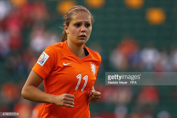 Lieke Martens of Netherlands looks on during the FIFA Women's World Cup Canada 2015 Group A match between New Zealand and Netherlands at Commonwealth...