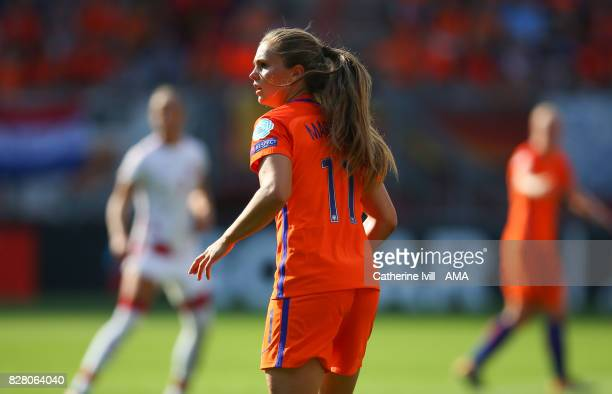 Lieke Martens of Netherlands Women during the UEFA Women's Euro 2017 final match between Denmark and Netherlands at De Grolsch Veste Stadium on...