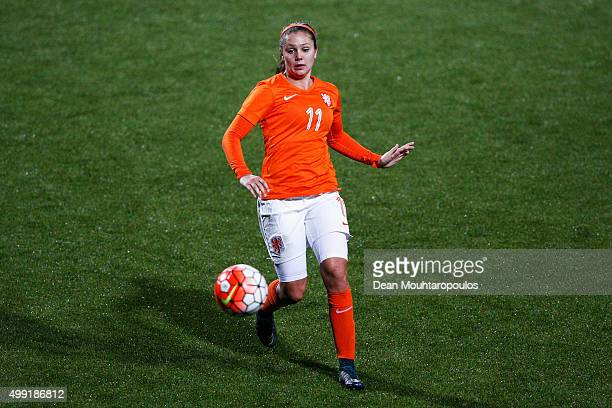 Lieke Martens of the Netherlands in action during the International Friendly match between Netherlands and Japan held at Kras Stadion on November 29...