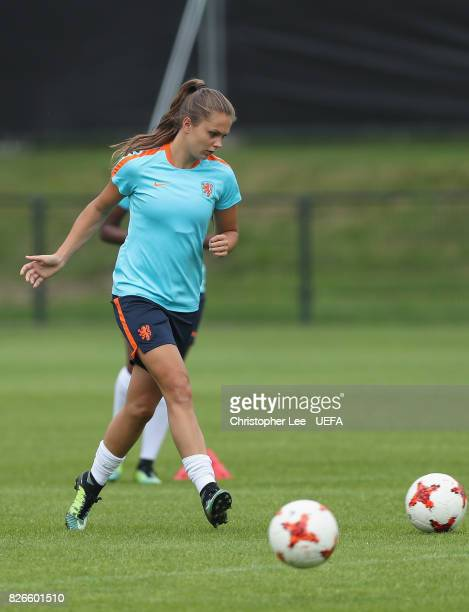 Lieke Martens of the Netherlands in action during the Netherlands Training session at SV De Lutte on August 5 2017 in Enschede Netherlands