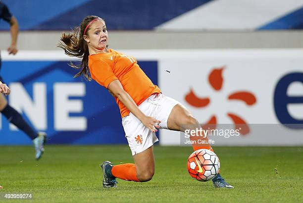 Lieke Martens of The Netherlands in action during the women's international friendly match between France and The Netherlands at Stade Jean Bouin on...
