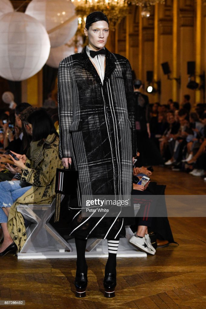 liene-podina-walks-the-runway-during-the-thom-browne-fashion-show-as-picture-id857286452
