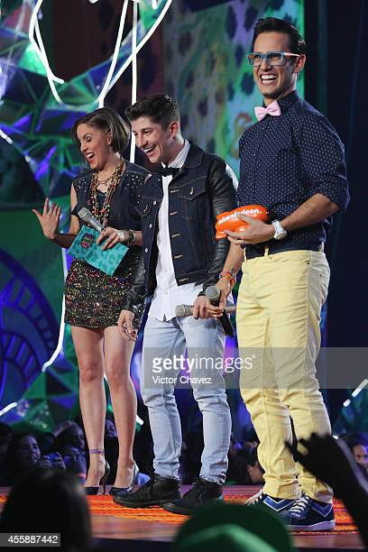 LiesL Fer and Jorge Blanco onstage during the Nickelodeon Kids' Choice Awards Mexico 2014 at Pepsi Center WTC on September 20 2014 in Mexico City...