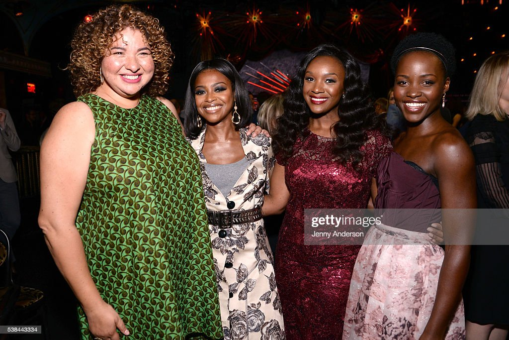 Liesl Tommy, Pascale Armand, Saycon Sengbloh and Lupita Nyong'o attend the Tony Honors Cocktail Party presenting the 2016 Tony Honors For Excellence In The Theatre and honoring the 2016 Special Award recipients at Diamond Horseshoe on June 6, 2016 in New York City.