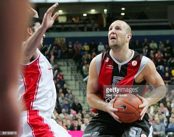Lietuvos Rytas Kenan Bajramovic in action during the Euroleague Basketball Game 8 between Lietuvos Rytas v Armani Jeans Milano at the Siemens Arena...