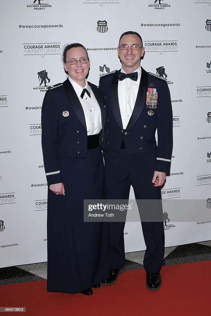 Lieutenant colonel Jennifer Maceda (L) and Lieutenant colonel Steven Maceda attend the 9th annual Wounded Warrior Project Courage Awards & Benefit Dinner at The Waldorf=Astoria on May 29, 2014 in New York City.