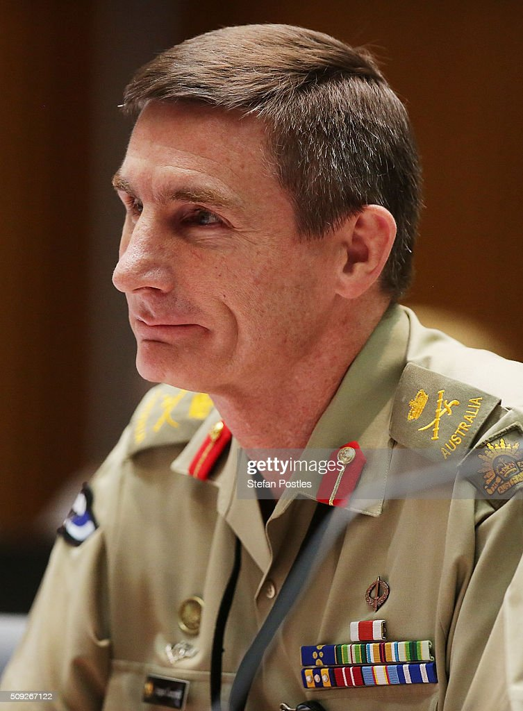 Lieutenant General Angus Campbell DSC AM takes questions from Senator Jacqui Lambie during the Foreign Affairs, Defence and Trade Committee hearing on February 10, 2016 in Canberra, Australia.