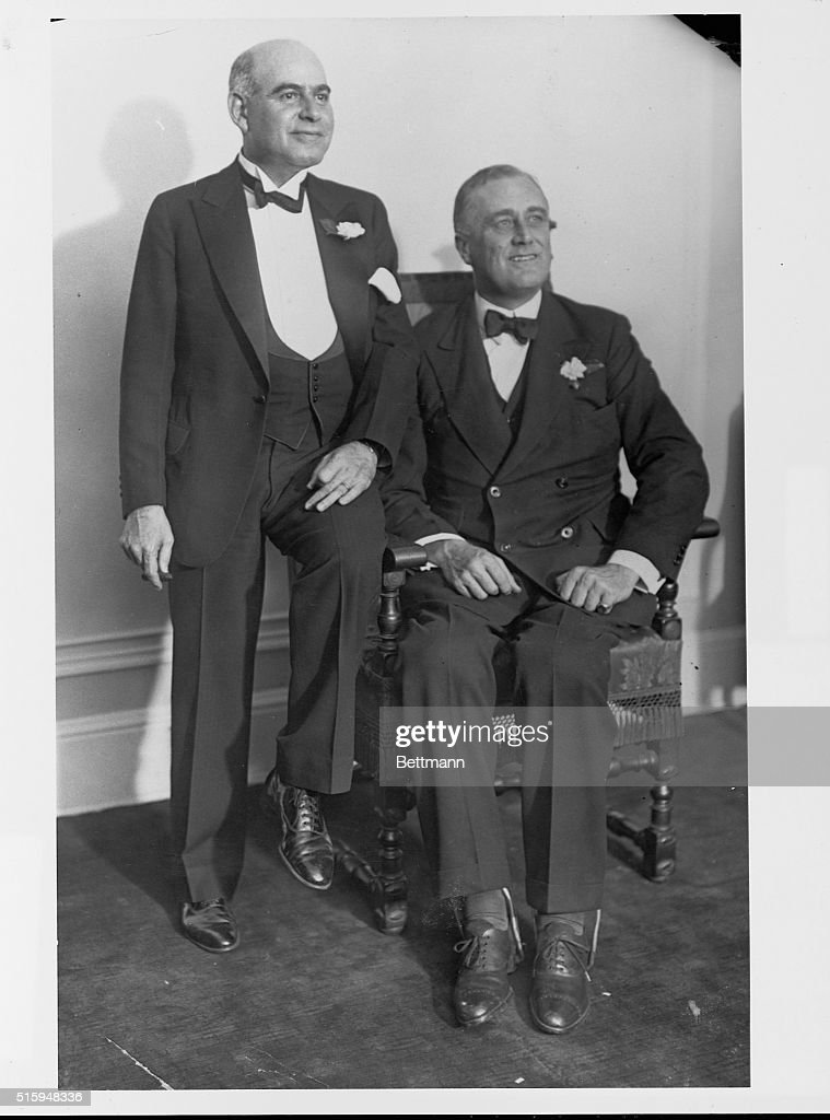 Lieutenant Governor Lehman and Governor Roosevelt sit and wait for New York election returns.