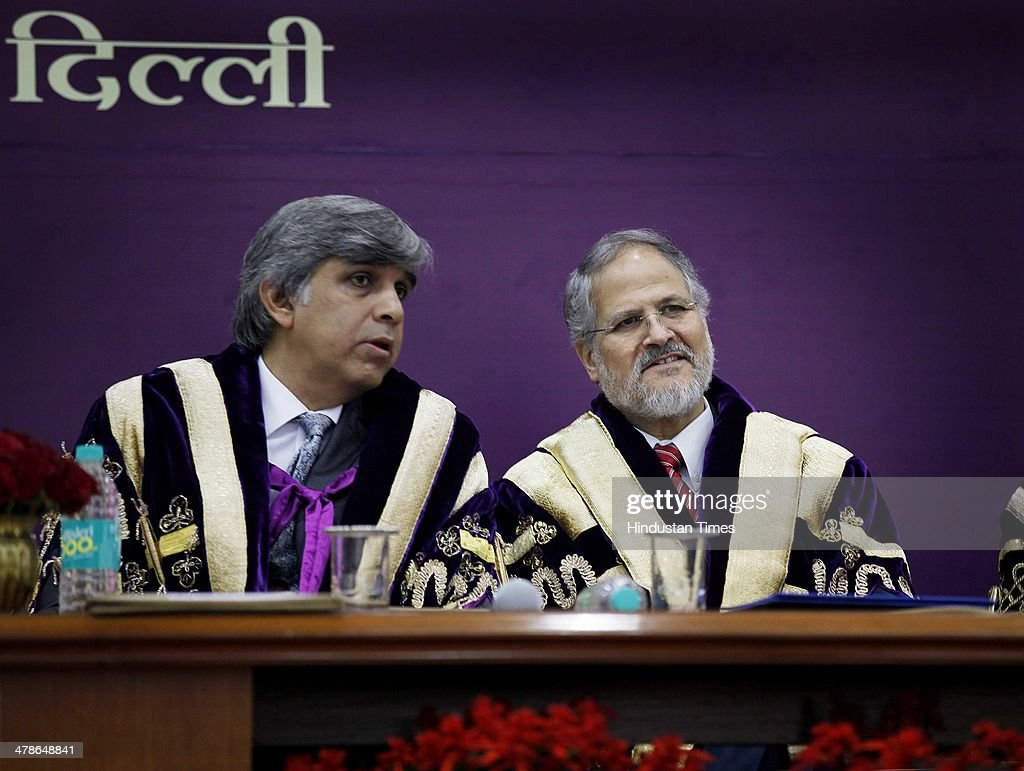 Lieutenant Governor Najeeb Jung along with DU Vice Chancellor Dinesh Singh during the 91th annual convocation of Delhi University at Old Vice-Regal Lodge on March 14, 2014 in New Delhi, India. Najeeb Jung was the chief guest.