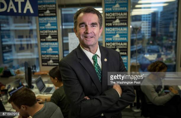 Lieutenant Governor Ralph Northam is running for Governor of Virginia in his campaign headquarters in Arlington VA October 6 2017