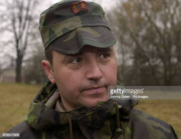 Lieutenant Tomita Craciun from Romania speaks to the press at the Military Academy in Vyskov near Brno in the Czech Republic * The lieutenant is one...