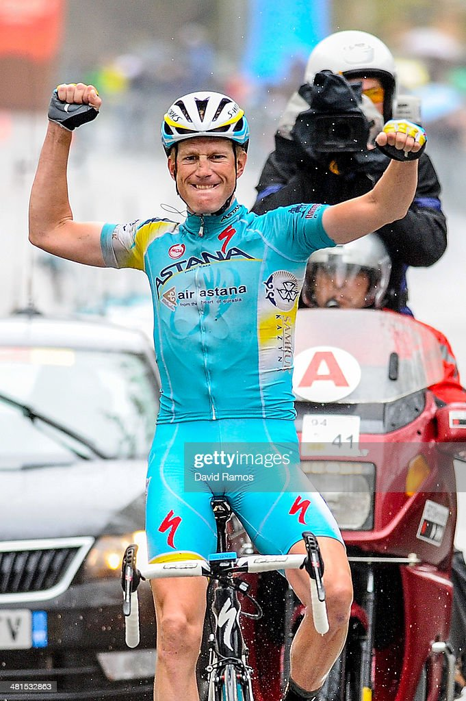<a gi-track='captionPersonalityLinkClicked' href=/galleries/search?phrase=Lieuwe+Westra&family=editorial&specificpeople=7552180 ng-click='$event.stopPropagation()'>Lieuwe Westra</a> of Netherlands and Astana Pro Team celebrates winning Stage Seven of the Volta a Catalunya on March 30, 2014 in Barcelona, Spain.