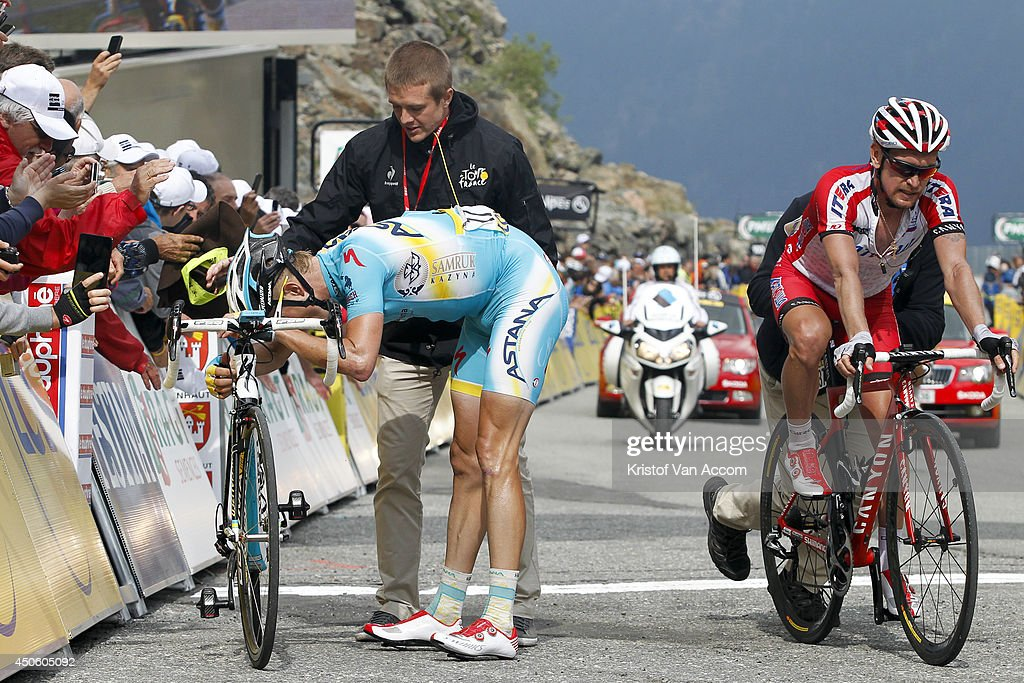 <a gi-track='captionPersonalityLinkClicked' href=/galleries/search?phrase=Lieuwe+Westra&family=editorial&specificpeople=7552180 ng-click='$event.stopPropagation()'>Lieuwe Westra</a> of The Netherlands and Team Astana is exhausted at the finish line after winning the seventh stage of the Criterium du Dauphine on June 14, 2014 between Ville-la-Grand and Finhaut-Emosson, France. Yury Trofimov (R) of Russia and Team Katusha finishes second.