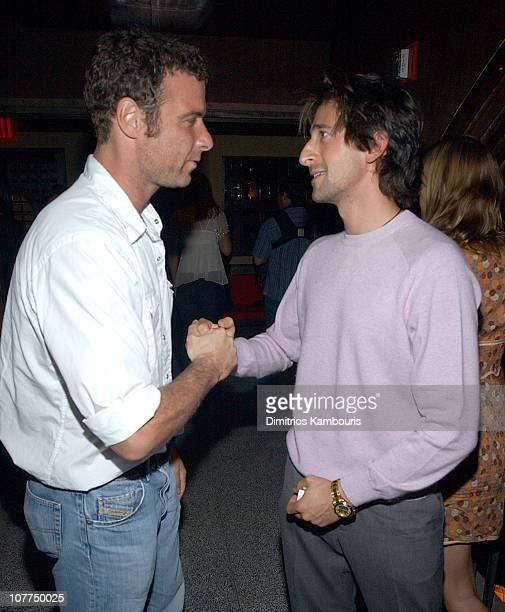 Liev Schreiber and Adrien Brody at the W Magazine party for Kate Moss
