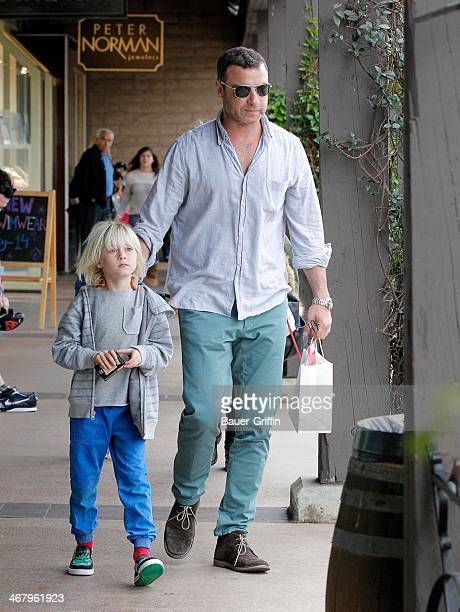 Liev Schreiber and Alexander Schreiber are seen on February 08 2014 in Los Angeles California