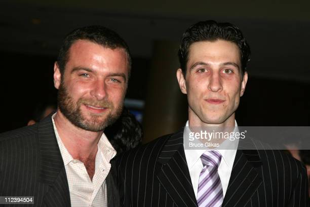 Liev Schreiber and brother Pablo Schreiber during 'Awake and Sing' Opening Night After Party at Marriott Marquis Ballroom in New York City New York...