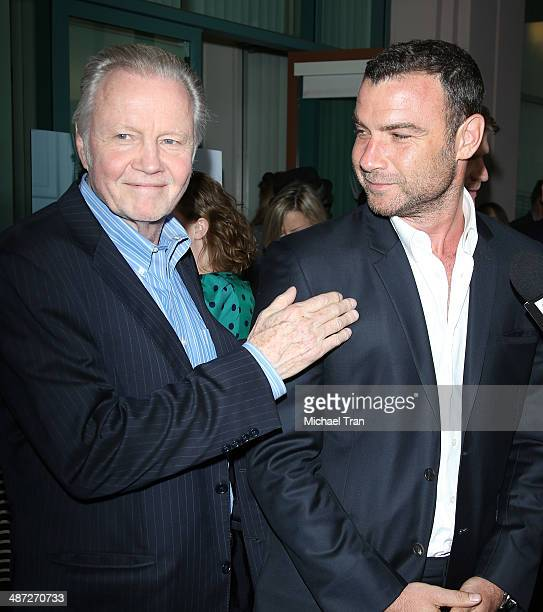 Liev Schreiber and Jon Voight arrive at Showtime's 'Ray Donovan' special screening and panel discussion held at Leonard H Goldenson Theatre on April...