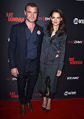 Liev Schreiber and Katie Holmes arrives at the For Your Consideration Screening And Panel For Showtime's 'Ray Donovan' at Paramount Theatre on April...