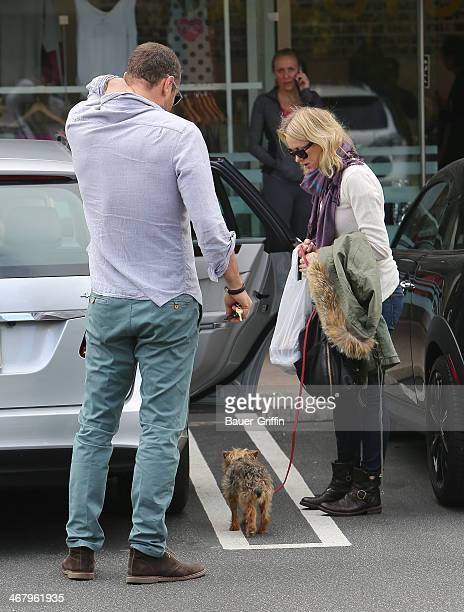 Liev Schreiber and Naomi Watts are seen on February 08 2014 in Los Angeles California