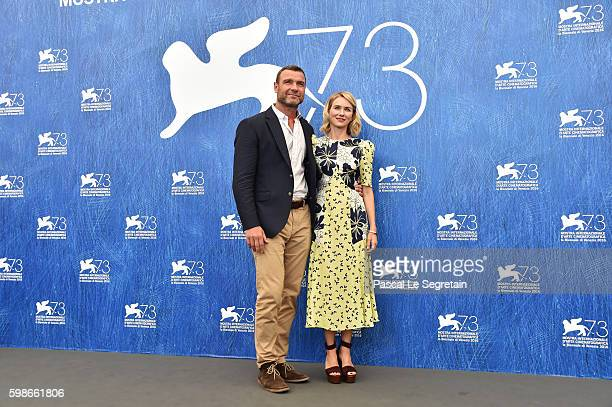 Liev Schreiber and Naomi Watts attend a photocall for 'The Bleeder' during the 73rd Venice Film Festival at Palazzo del Casino on September 2 2016 in...