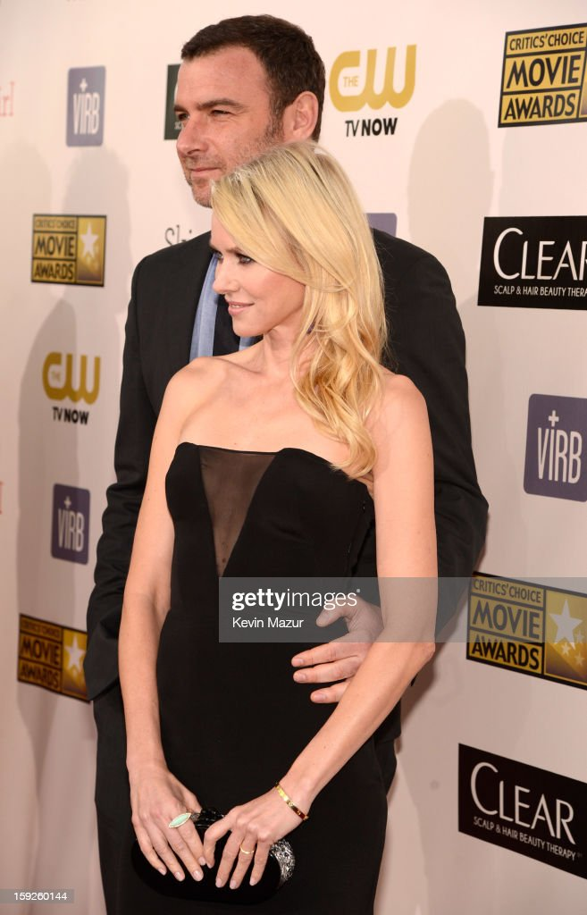 <a gi-track='captionPersonalityLinkClicked' href=/galleries/search?phrase=Liev+Schreiber&family=editorial&specificpeople=203259 ng-click='$event.stopPropagation()'>Liev Schreiber</a> and <a gi-track='captionPersonalityLinkClicked' href=/galleries/search?phrase=Naomi+Watts&family=editorial&specificpeople=171723 ng-click='$event.stopPropagation()'>Naomi Watts</a> attend the 18th Annual Critics' Choice Movie Awards at The Barker Hanger on January 10, 2013 in Santa Monica, California.