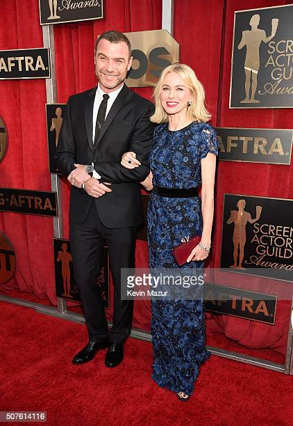 Liev Schreiber and Naomi Watts attends The 22nd Annual Screen Actors Guild Awards at The Shrine Auditorium on January 30 2016 in Los Angeles...