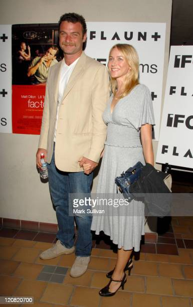 Liev Schreiber and Naomi Watts during 'Factotum' Los Angeles Screening Arrivals at The Laemmle Sunset 5 in West Hollywood California United States
