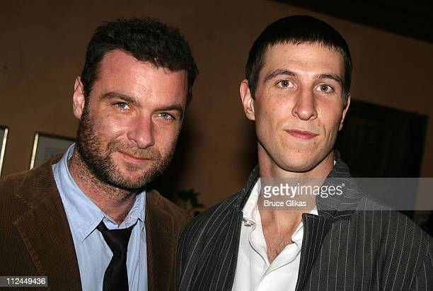 Liev Schreiber and Pablo Schreiber during 'Dying City' New York City Opening Night Arrivals at The Mitzi Newhouse Theater/O'Neills in New York City...