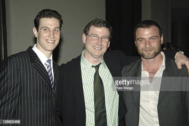 Liev Schreiber and Pablo Schreiber with father during 'Awake and Sing' Opening Night After Party at Marriott Marquis in New York City New York United...
