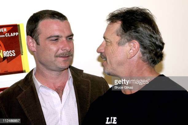 Liev Schreiber and Tom Wopat during 'Glengarry Glen Ross' Meet the Cast Event March 15 2005 at Manhattan Theater Club Rehearsal Studios in New York...