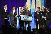 Liev Schreiber Billy Crudup Rachel McAdams Michael Keaton Brian d'Arcy James John Slattery and Mark Ruffalo of 'Spotlight' attend the 25th Annual...
