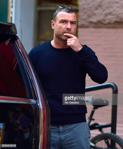 Liev Schreiber is seen in Noho on August 9 2017 in New York City